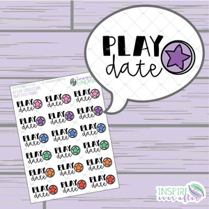 Play Date Doodle ~ Hand Drawn Petite Collection ~ Planner Stickers