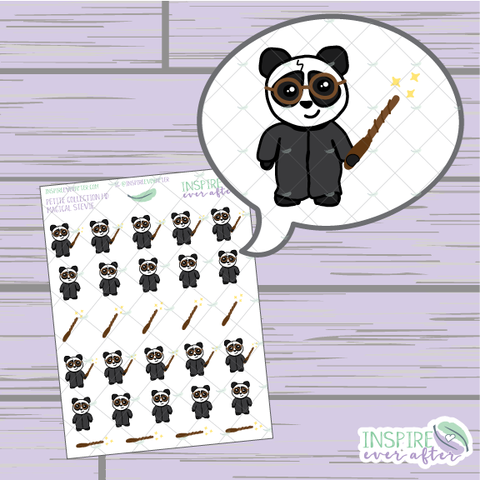 Magical Stevie the Panda ~ Hand Drawn Petite Collection ~ Planner Stickers