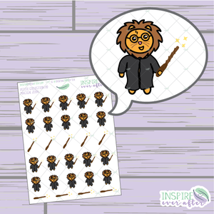 Magical Zion the Lion ~ Hand Drawn Petite Collection ~ Planner Stickers