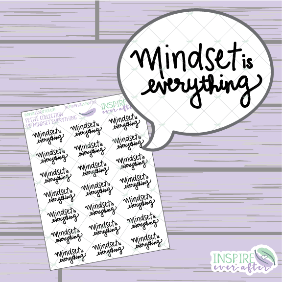 Mindset is Everything ~ Hand Lettered Petite Collection Positive Affirmation Icon ~ Planner Stickers