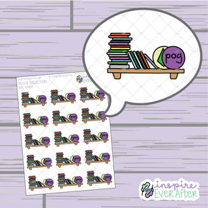 Pog Shelf ~ Hand Drawn 90s Things ~ Petite Collection ~ Planner Stickers