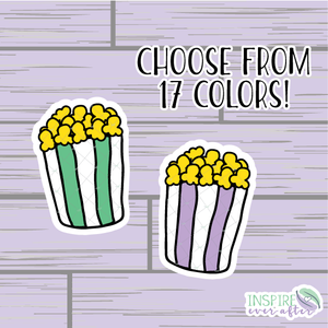 Popcorn Die Cut ~ Choose Your Color ~ Hand Drawn Planner Accessories