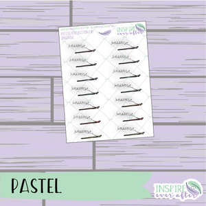 Incense ~ Pastel OR Neutral ~ Hand Drawn Petite Collection ~ Planner Stickers