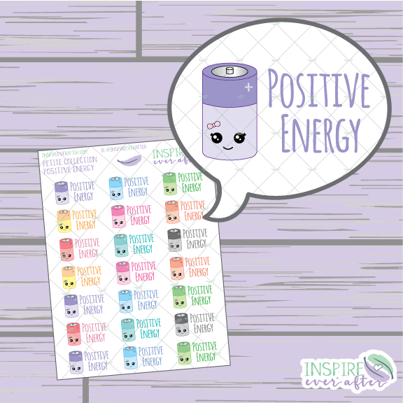 Positive Energy ~ Petite Collection ~ Planner Stickers