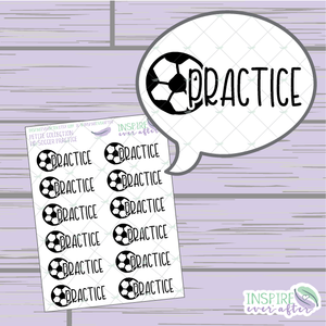 Soccer Practice ~ Hand Drawn Petite Collection Sport Icon ~ Planner Stickers