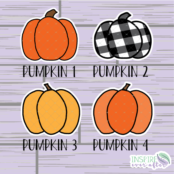 Pumpkin Die Cut ~ Choose from 4 Pumpkins ~ Hand Drawn Planner Accessories