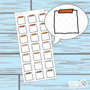 Pumpkin Top Washi Note Doodle ~ Hand Drawn Hobonichi Functionals ~ Planner Stickers