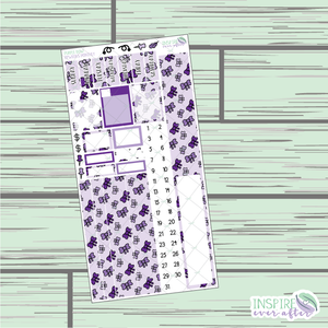 Purple Bow PPWeeks Monthly Kit ~ Hand Drawn Functional Planner Stickers