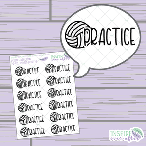 Volleyball Practice ~ Hand Drawn Petite Collection Sport Icon ~ Planner Stickers