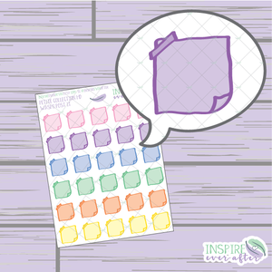 Washi Folded Note ~ Hand Drawn Petite Collection ~ Planner Stickers