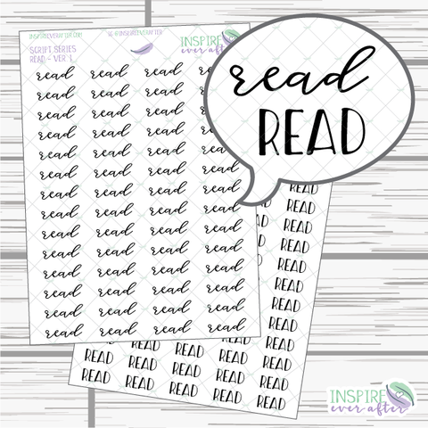 Read ~ Script OR Print ~ Script Series ~ Planner Stickers