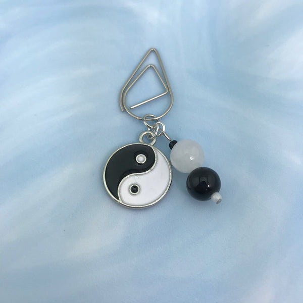 Yin & Yang Dangle Clip ~ Inspireology Charms ~ Handmade Planner Accessories