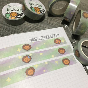 Zion the Lion IEA Galaxy Emotion Faces Washi Roll ~ Hand Drawn Planner Accessories