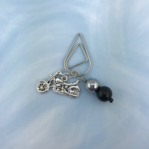 Motorcycle Dangle Clip ~ Inspireology Charms ~ Handmade Planner Accessories