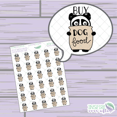Stevie the Panda Buy Dog Food Icon ~ Hand Drawn Petite Collection  ~ Planner Stickers