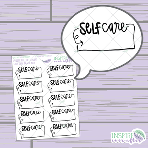 Self Care Blank Boxes ~ Hand Drawn Self Care ~ Planner Stickers