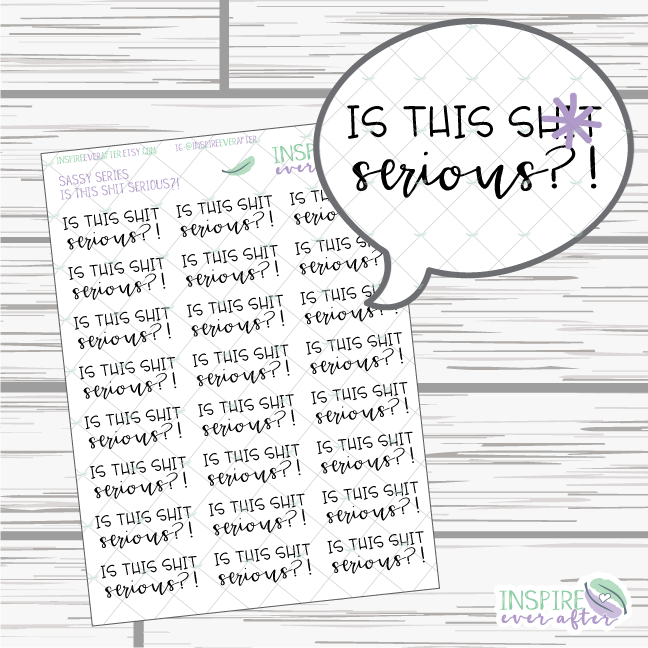Is this Sh*t Serious?! ~ Sassy Quote Series ~ Planner Stickers