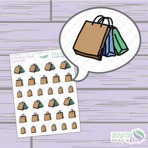 Shopping Bags ~ Hand Drawn Petite Collection ~ Planner Stickers