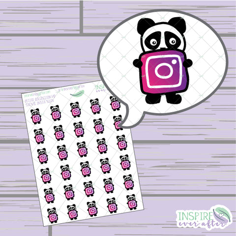 Stevie the Panda Insta Icon ~ Hand Drawn Petite Collection ~ Planner Stickers