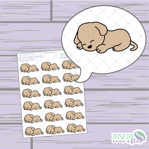 Sleeping Puppy ~ Hand Drawn Petite Collection ~ Planner Stickers