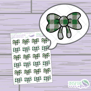 Magical Green House Bows ~ Hand Drawn Petite Collection ~ Planner Stickers