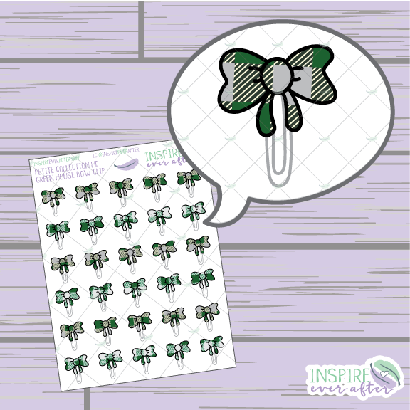 Magical Green House Bow Clip ~ Hand Drawn Petite Collection ~ Planner Stickers