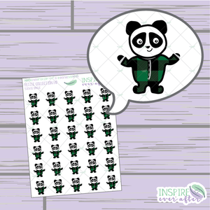 Stevie the Panda Onesie ~ Hand Drawn Petite Collection ~ Planner Stickers