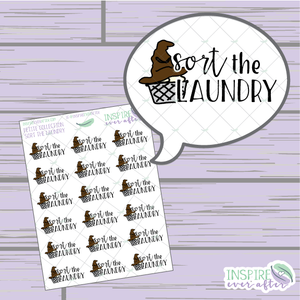 Sort the Laundry ~ Hand Drawn Petite Collection ~ Planner Stickers