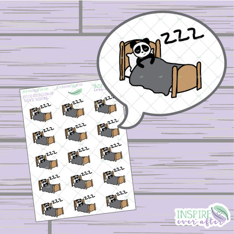 Stevie the Panda Sleeping Icon ~ Hand Drawn Petite Collection ~ Planner Stickers