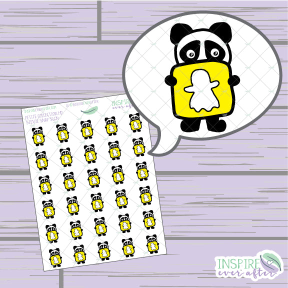 Stevie the Panda Snap Icon ~ Hand Drawn Petite Collection ~ Planner Stickers