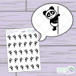 Stevie the Panda Peekin' ~ Hand Drawn Petite Collection ~ Planner Stickers