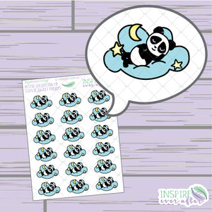 Stevie the Panda Sweet Dreams ~ Hand Drawn Petite Collection ~ Planner Stickers