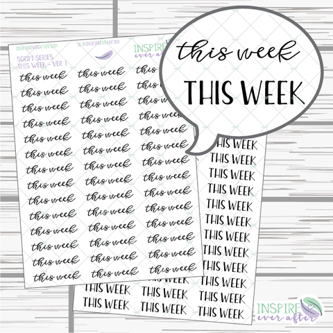 This Week ~ Script OR Print ~ Script Series ~ Planner Stickers