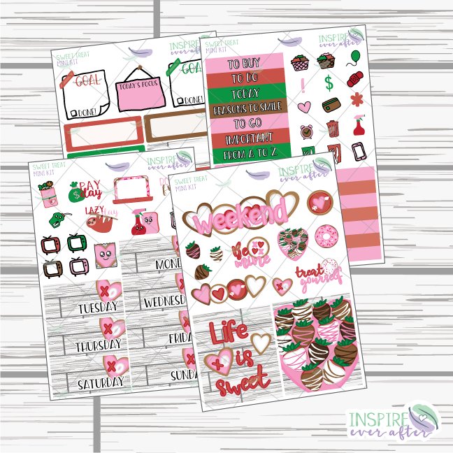 Sweet Treats Mini Weekly Kit ~ Planner Stickers