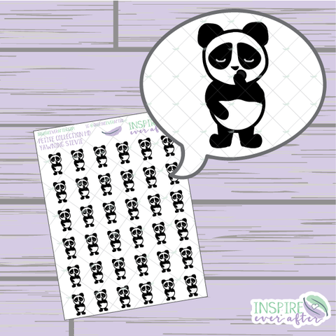 Stevie the Panda Yawning ~ Hand Drawn Petite Collection ~ Planner Stickers