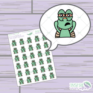 Theo the Turtle Allergy Sufferin' ~ Hand Drawn Petite Collection ~ Planner Stickers
