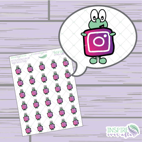 Theo the Turtle Insta Icon ~ Hand Drawn Petite Collection ~ Planner Stickers