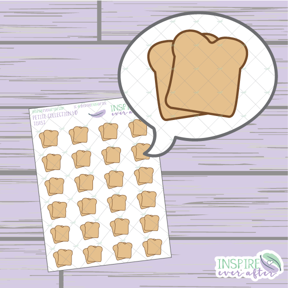 Toast ~ Hand Drawn Food ~ Petite Collection ~ Planner Stickers