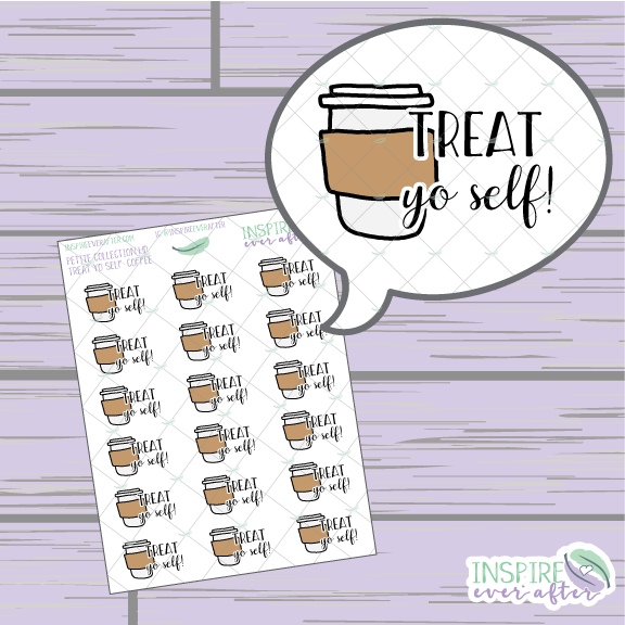 Treat Yo Self: Coffee Edition ~ Hand Drawn Food Icons ~ Petite Collection ~ Planner Stickers