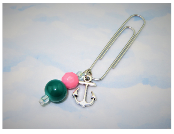 Anchors Away (Tropical) Dangle Clip ~ Inspireology Charms ~ Handmade Planner Accessories