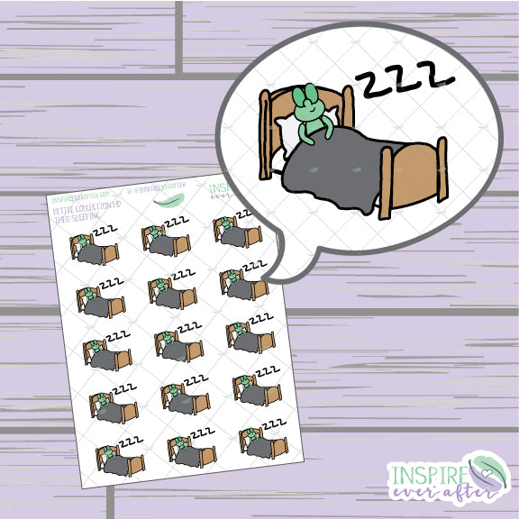 Theo the Turtle Sleeping Icon ~ Hand Drawn Petite Collection ~ Planner Stickers