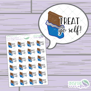 Treat Yo Self: Chocolate Edition ~ Hand Drawn Treat Yo Self Series ~ Petite Collection ~ Planner Stickers