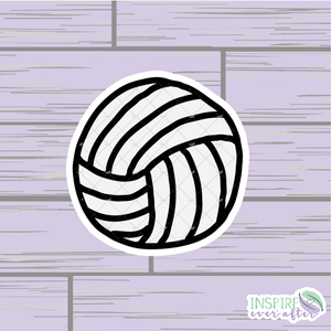 Volleyball Die Cut ~ Hand Drawn Planner Accessories