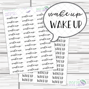 Wake Up ~ Script OR Print ~ Script Series ~ Planner Stickers