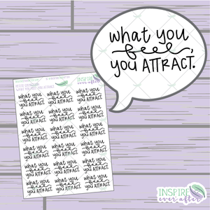 What You Feel, You Attract ~ Hand Drawn Petite Collection ~ Planner Stickers
