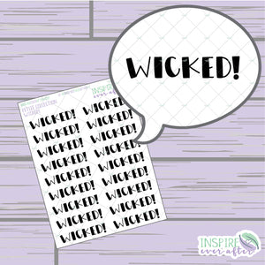 Magical Wicked! ~ Hand Lettered Icons ~ Petite Collection ~ Planner Stickers