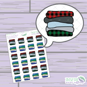 Cozy Winter Blankets ~ Hand Drawn Petite Collection ~ Planner Stickers