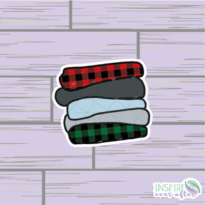 Cozy Winter Blanket Stack Die Cut ~ Hand Drawn Planner Accessories