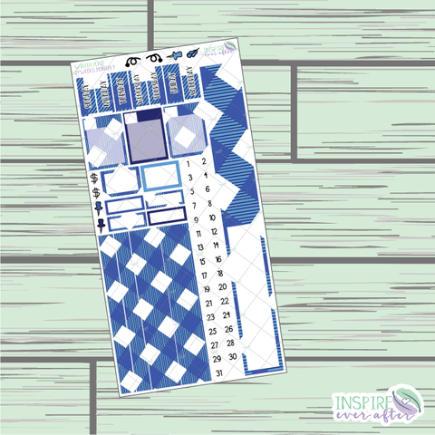 Winter Plaid PPWeeks Monthly Kit ~ Hand Drawn Functional Planner Stickers