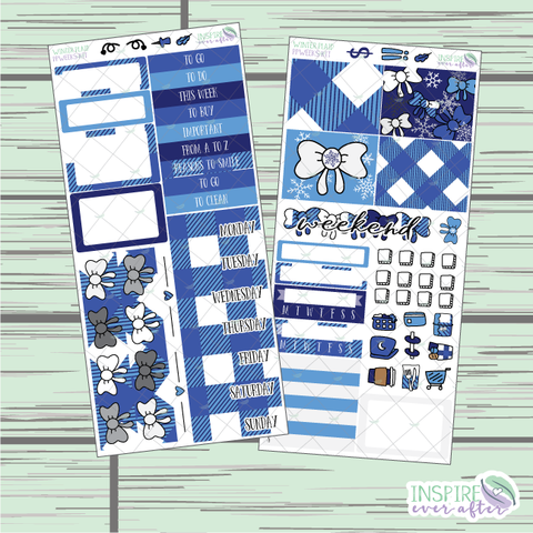 Winter Plaid PPWeeks Weekly Kit ~ Hand Drawn Functional Planner Stickers